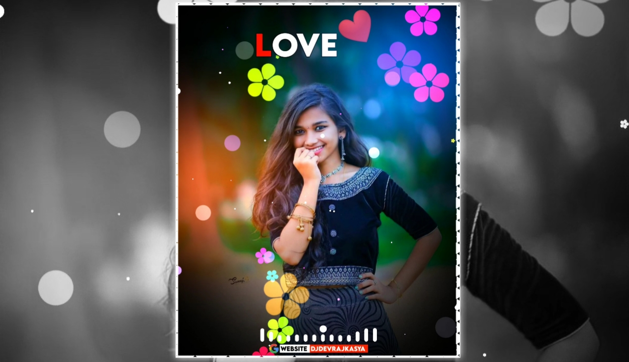 Love Trending Flower Partical Full Screen Avee Player Template Download