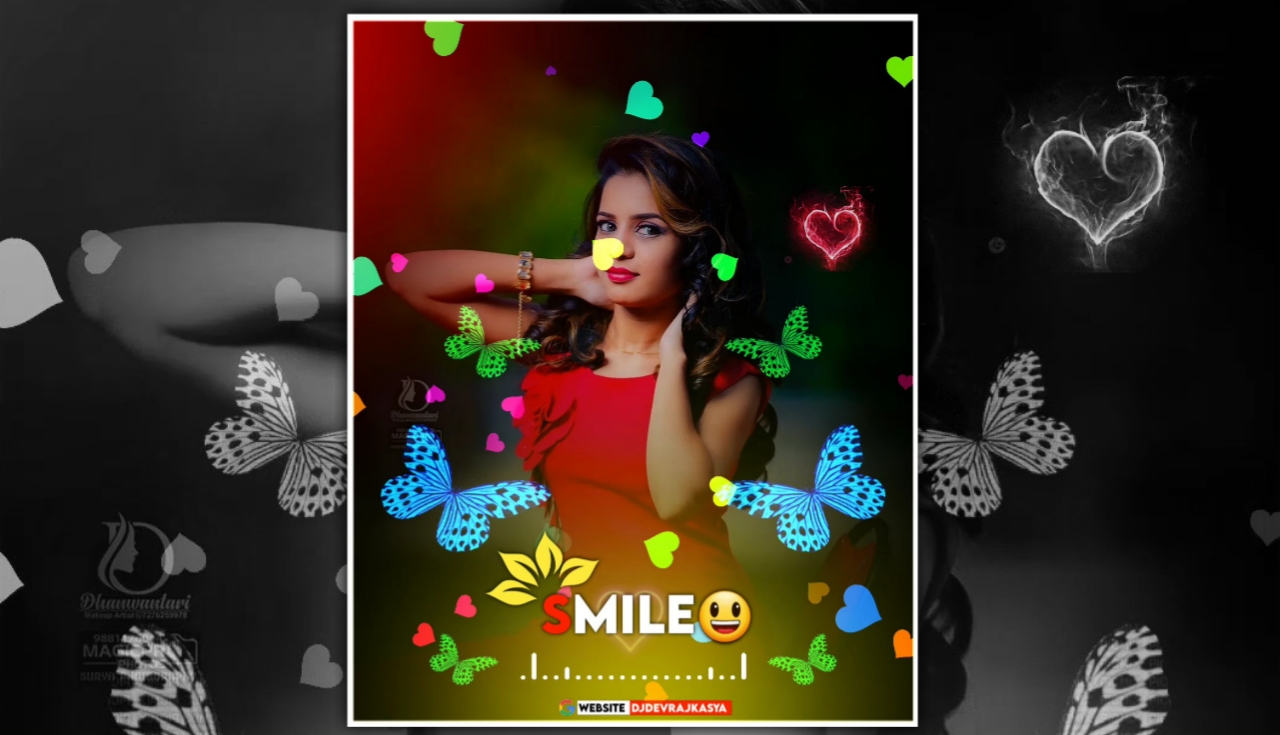 Smile Butterfly Effect Full Screen Avee Player Template Download