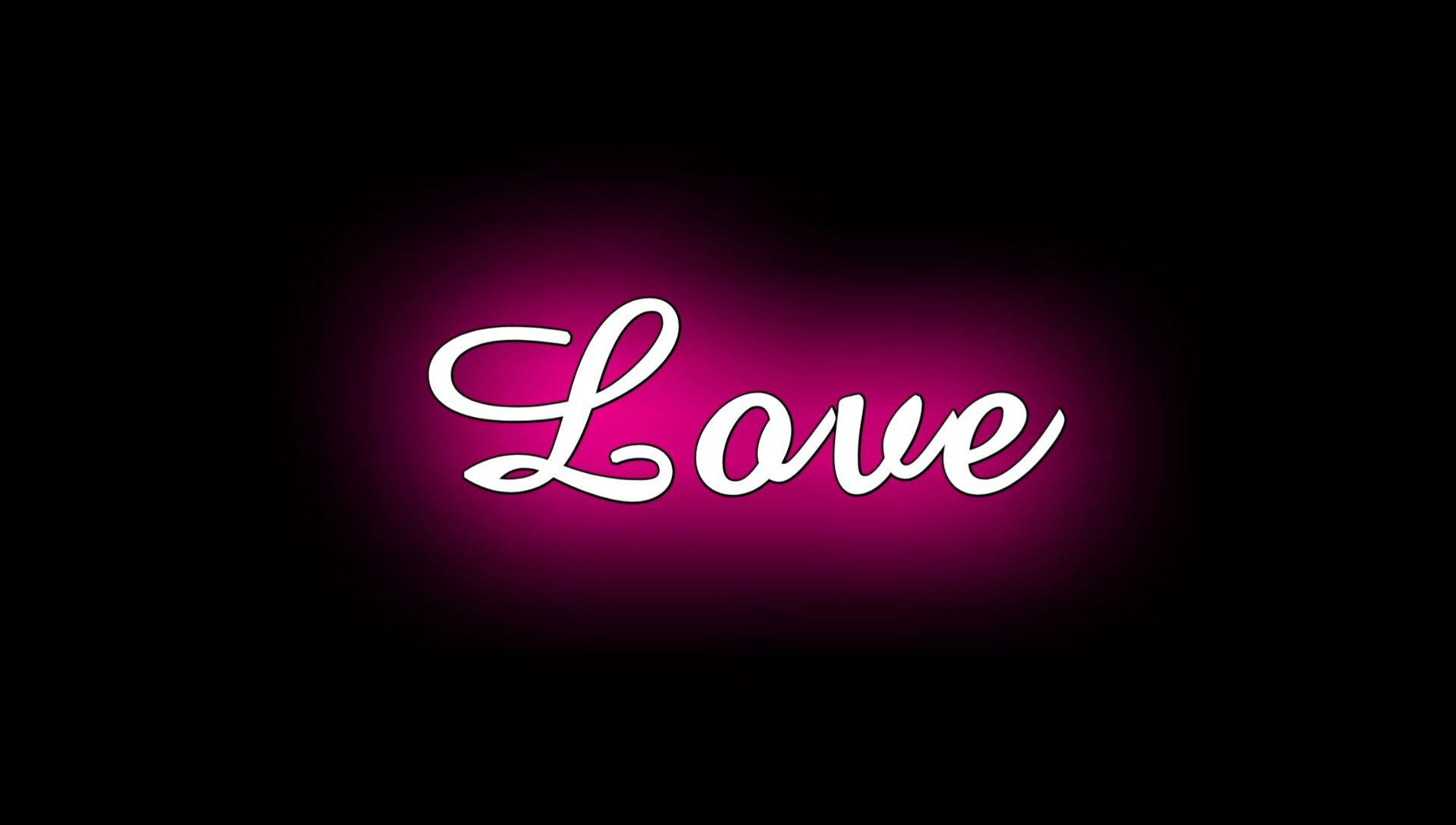 Love Neon Text Effect Video Kinemaster Template Download