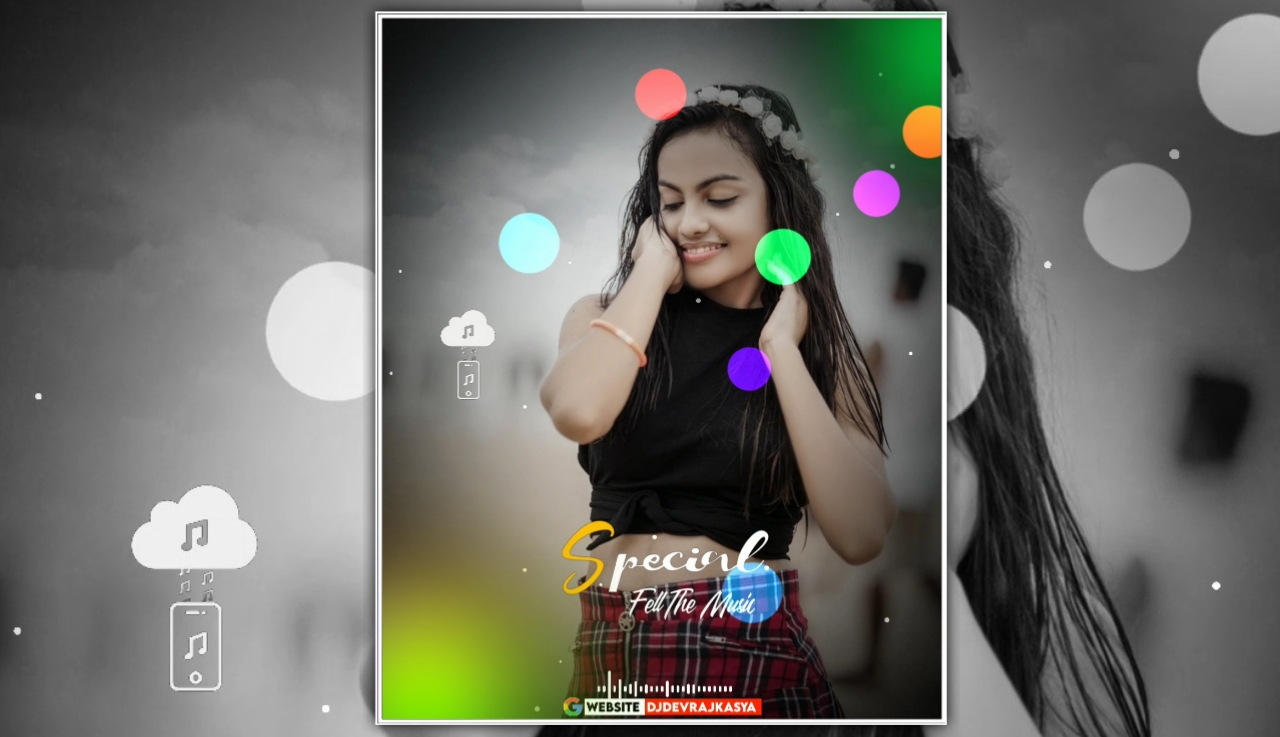 Special Feel The Music Lighting Effect Full Screen Avee Player Visualizer Template Download 2022