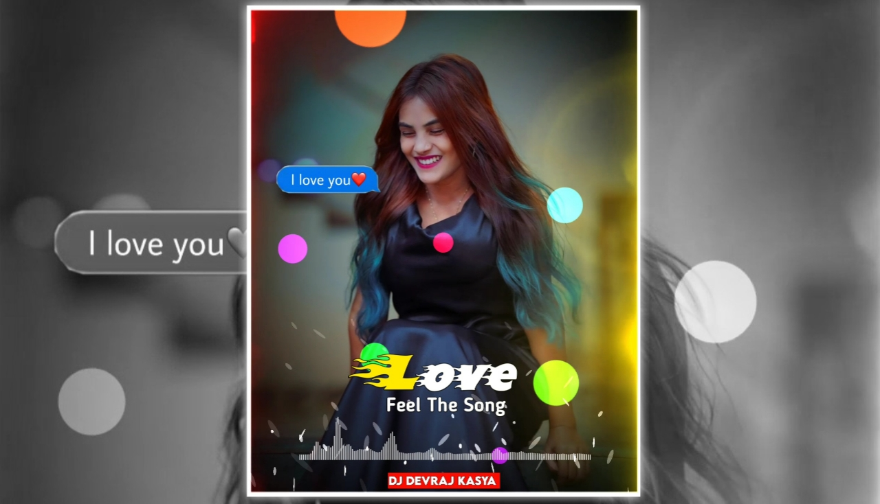 I Love U Message Full Screen Avee Player Visualizer Template Download Free 2022