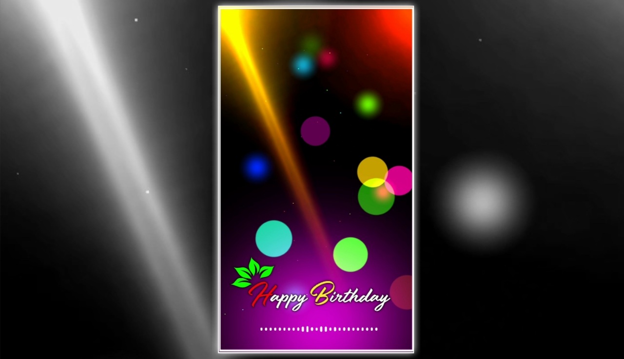 Happy Birthday Green screen Full Screen avee player visualizer template download free 2022