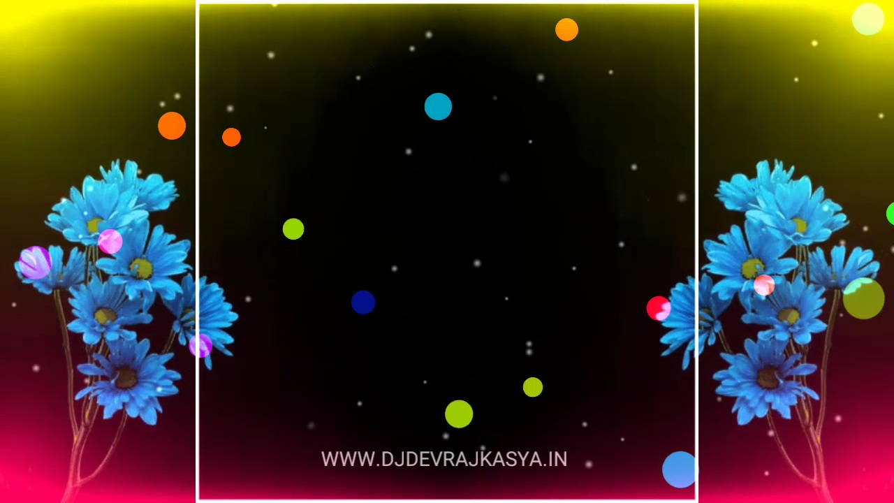 Flower Effect Black Screen Avee Player Visualizer Template Download Free