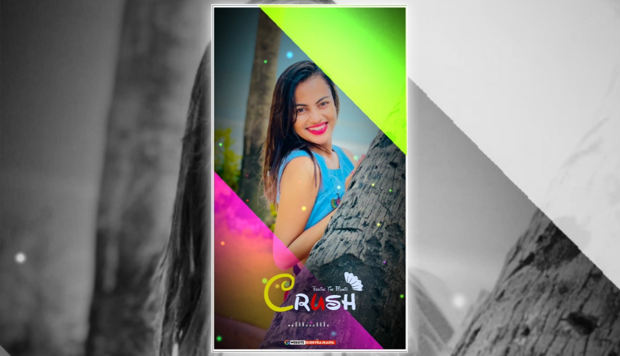 Crush Neon Effect Full Screen Avee Player Visualizer Template Download Free 2022