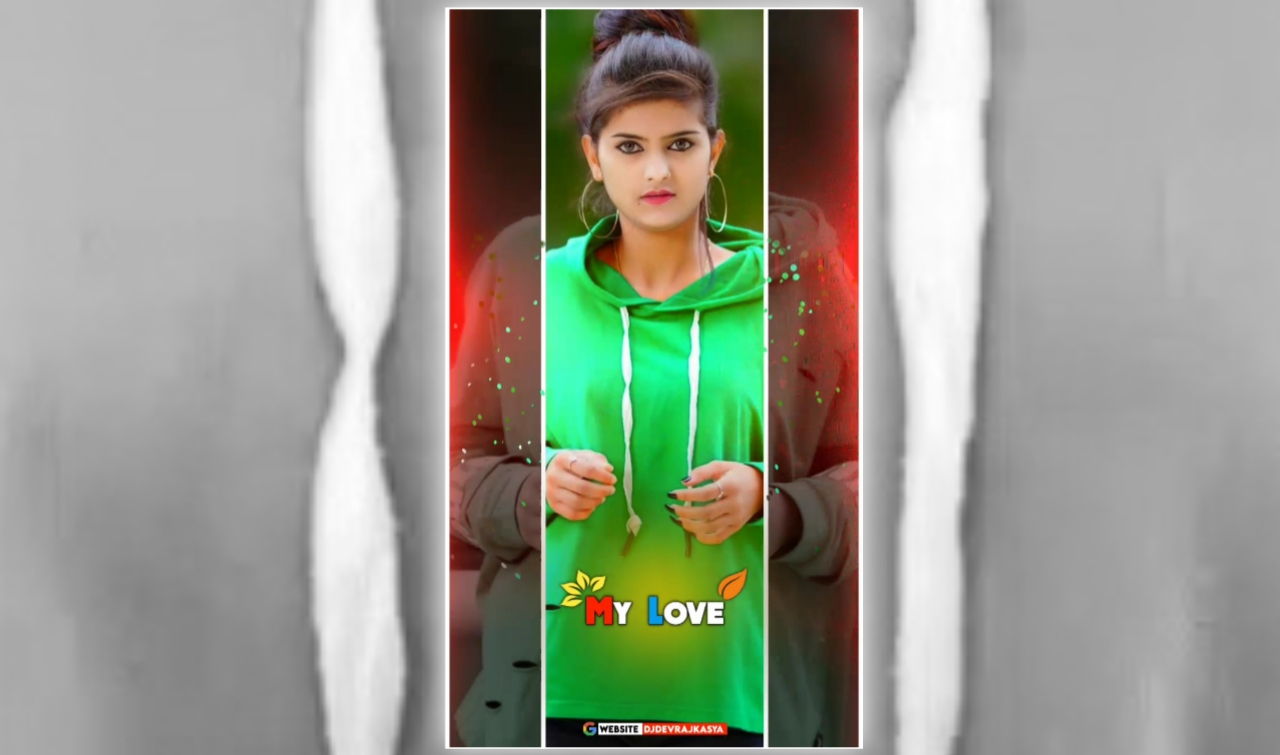 My Love Black In White Beat Effect Full Screen Avee Player Visualizer Template Download 2022