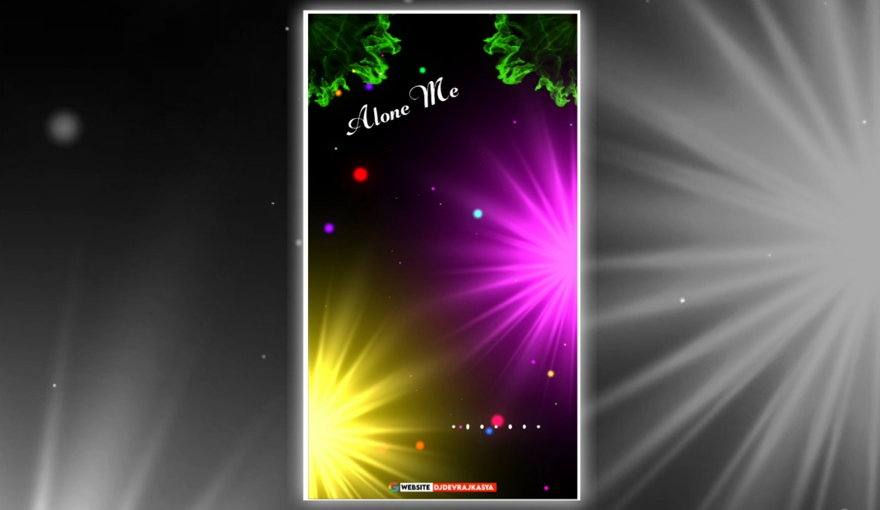 Alone Me Lighting Effect Full Screen Visualizer Template Download Free 2022