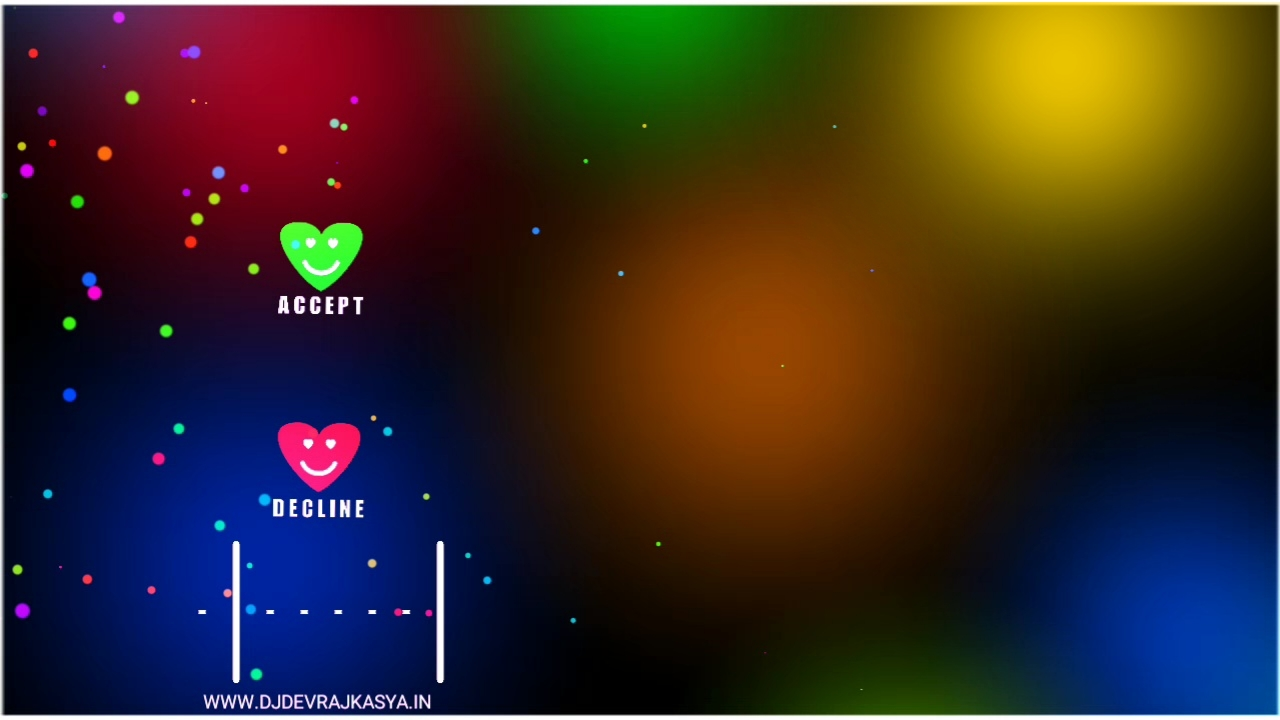 Heart Calling Button Lighting Effect Avee Player Visualizer Template Download 2022