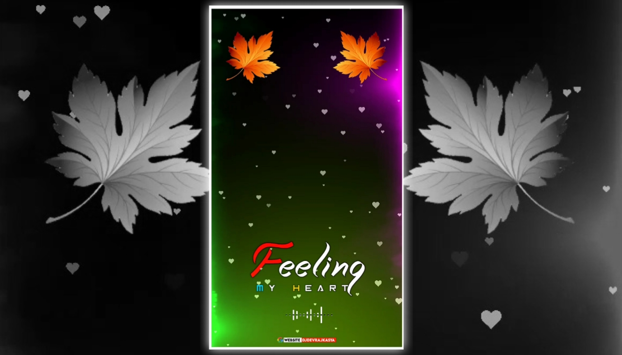 Golden Leaf Feeling Full Screen Avee Player Visualizer Template Download Free 2022
