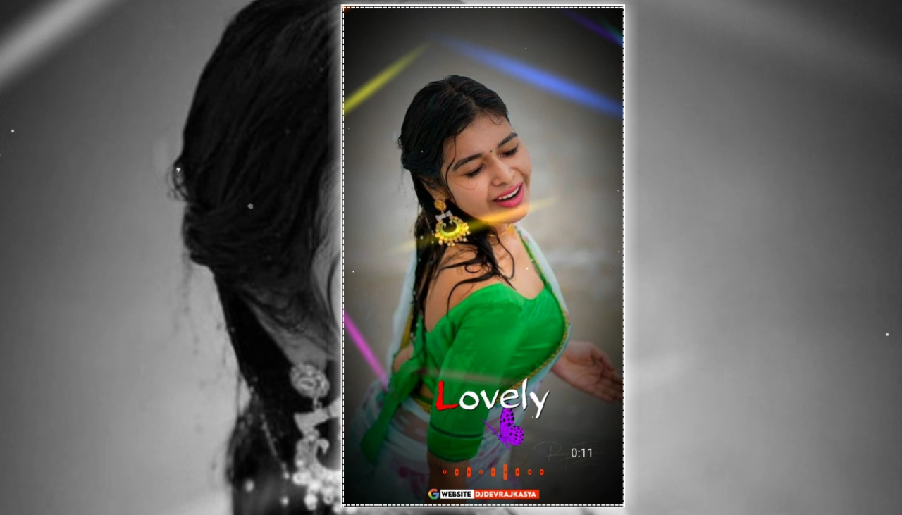 Lovely Op Partical Effect Full Screen Avee Player Template Download 2022
