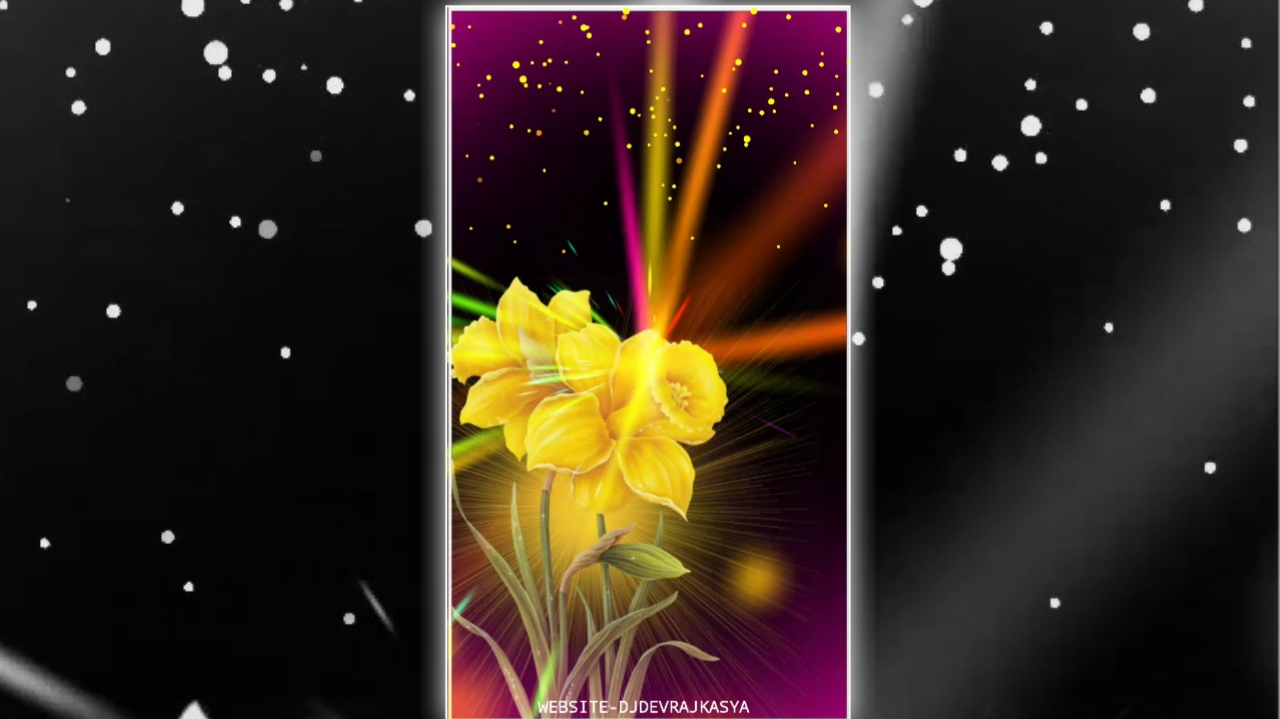 Yellow Flower Trending Effect Full Screen Avee Player Visualizer Template Download Free 2022