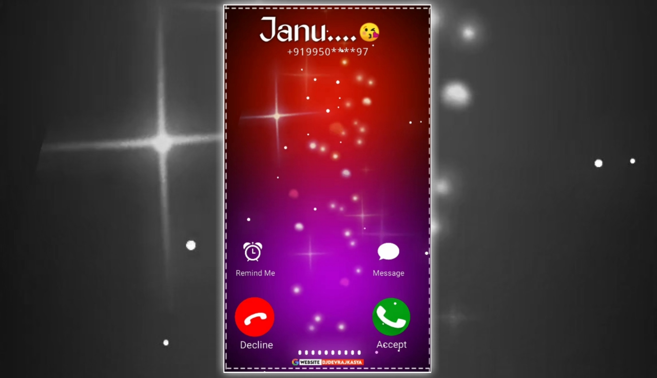 Lighting Effect Calling Full Screen Avee Player Visualizer Template Download Free 2022