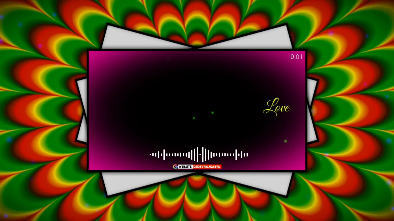 Awesome Flower Effect Black Screen Template Background Video Download Free