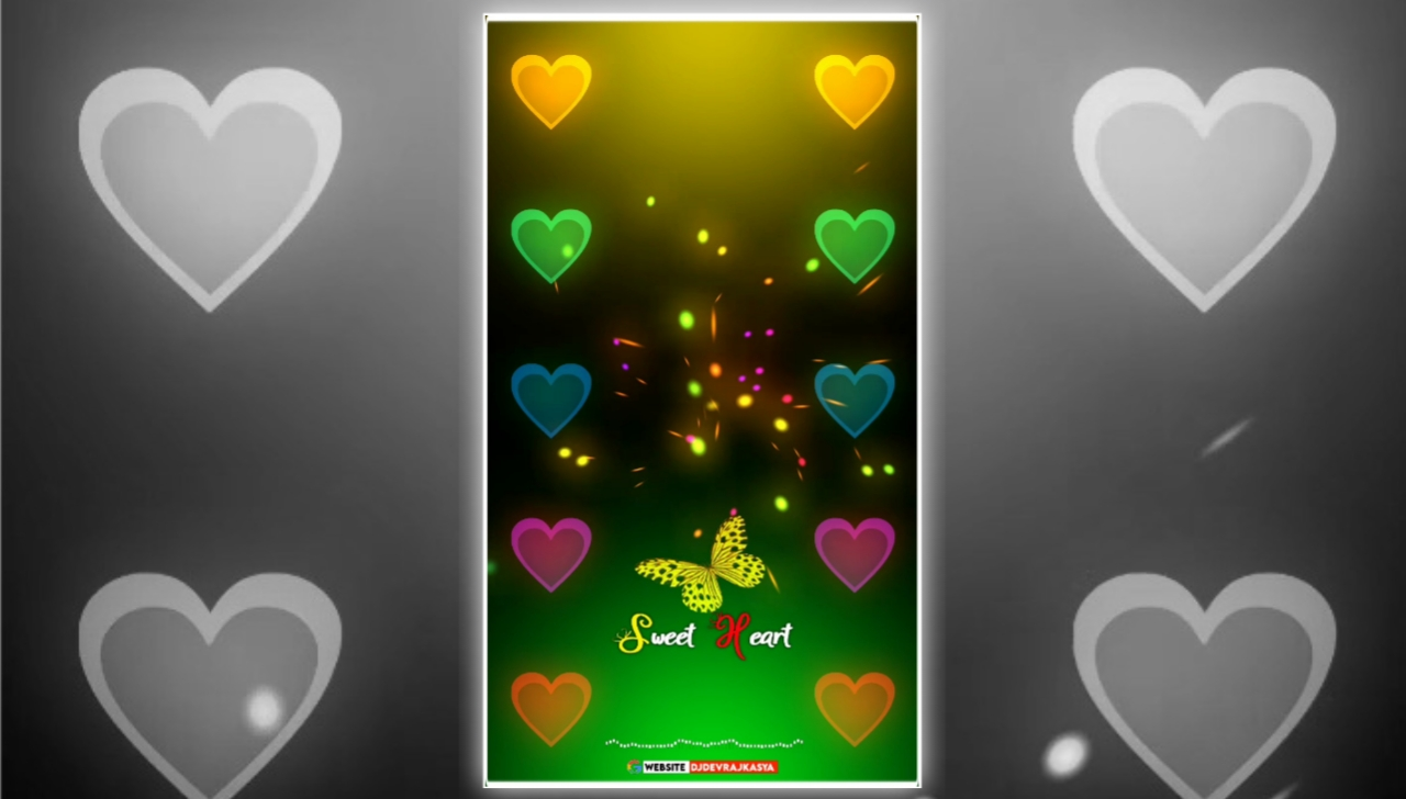 Sweet Heart Effect Full Screen Avee Player Visualizer Template Download Free 2022