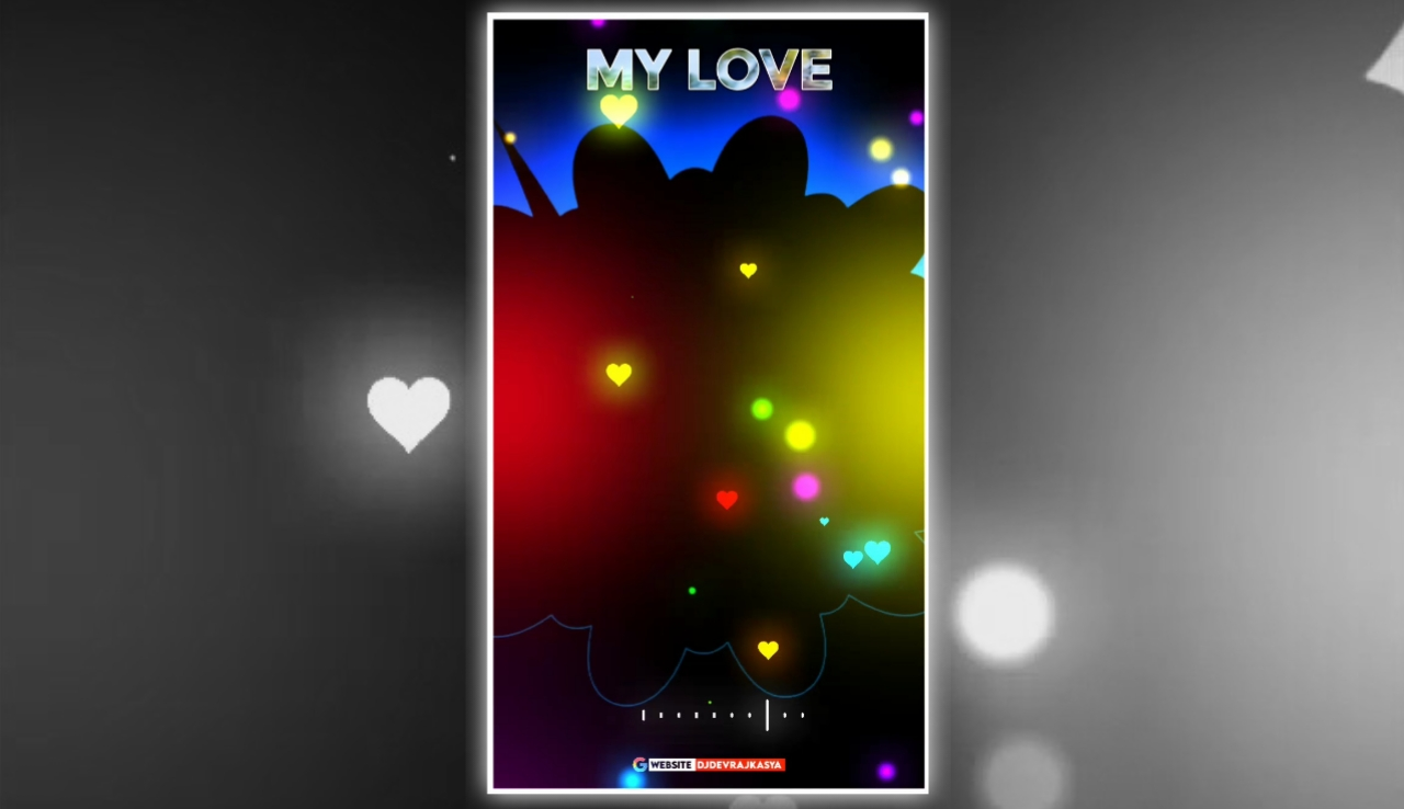 Lighting Effect My Love Full Screen Avee Player Visualizer Template Download Free 2022